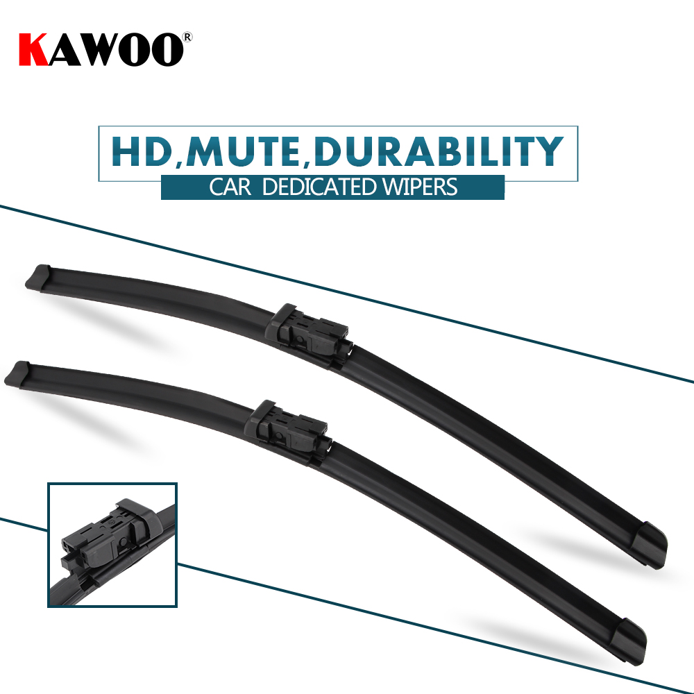 Kawoo Pcs Car Wiper Blade  For Volvo V  Onwards Auto Soft Rubber Windcreen Wipers Blades Car Accessories Styling