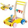 Dobrável velocidade rollover carrinho de madeira brinquedos para crianças bebê multifuncional andador infantil andador