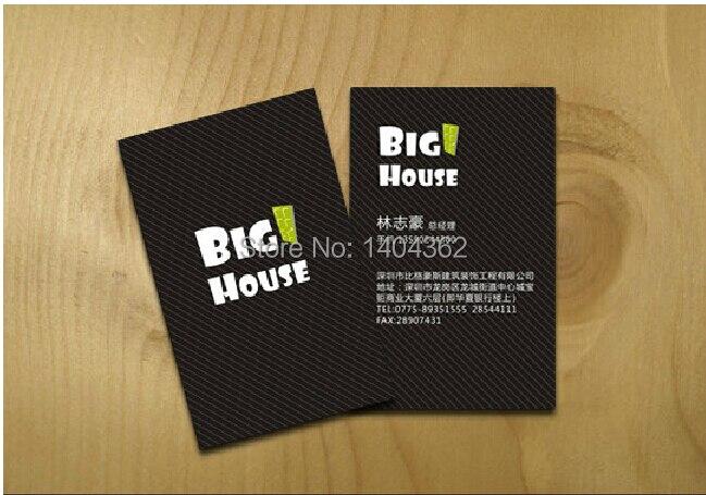 Exquis Cartes De Visite Impression 300gsm Papier Couch Couleur Rwo Sides Free Design Anf Livraison Gratuite 500 Pcs Lote N 1005