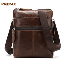 New vintage leather single-shoulder shoulder bag for leisure men fashion sports cross small