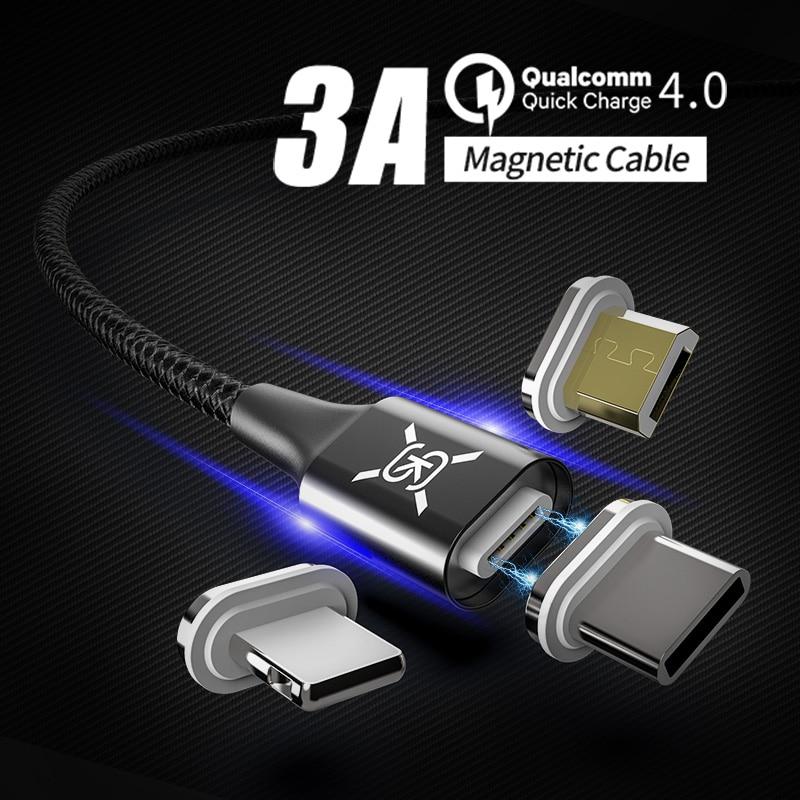 Magnetische 3 In 1 Usb Kabel Lader Micro Usb Type C Qc 4.0 3.0 Opladen Voor Android Iphone Xiaomi Redmi Iphone Xr Samsung Sikai