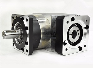 Image 2 - right angle 90 degree planetary gearbox reducer 2 stage ratio 15:1 to 100:1 for 80MM 750W AC servo motor input shaft 19mm
