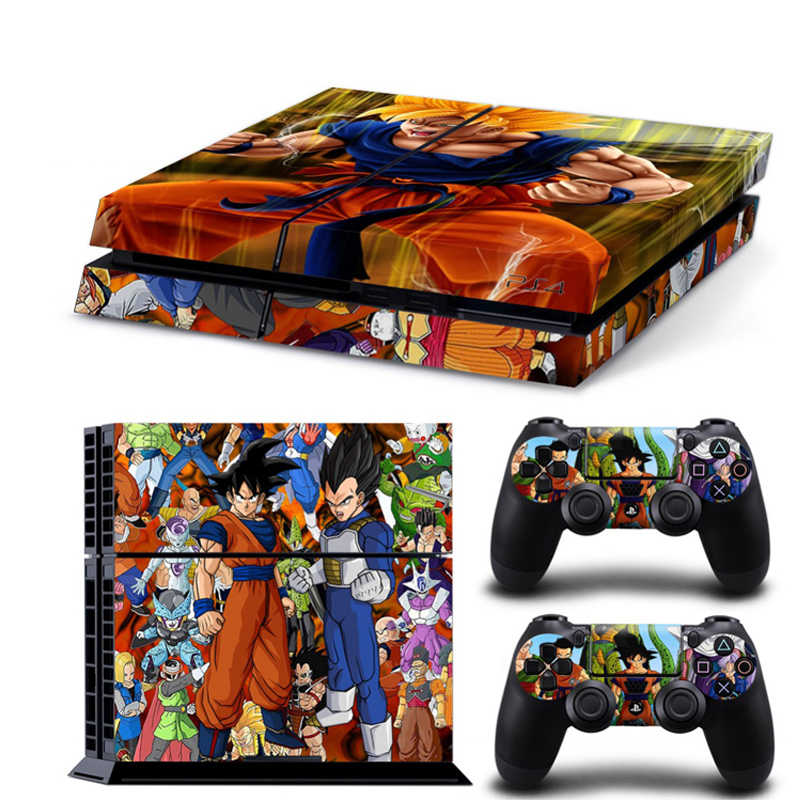 Dragon Ball Poster Vinyl Skin For Play Station 4 Console Decal Sticker 2pcs Controle Skins Cover For PS4 Gamepad Accessories