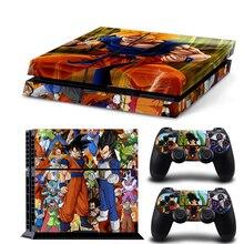 Póster de Dragon Ball, pegatina de piel de vinilo para Play Station 4, pegatina para consola, 2 uds., fundas de control para PS4, accesorios para Gamepad