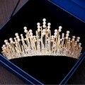 High-end personalizado de luxo ouro/prata alloy rhinestone faux pérola da coroa para as mulheres casamento nupcial tiaras de cabelo jóias acessórios