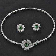 절묘한 꽃 모양 bijoux mariage 결혼식 훈장 큰 지르코니아 보석 세트 아프리카 작풍
