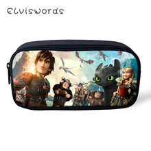 ELVISWORDS How to Train Your Dragon Printing Pencil Case for Students Children Boys Girls Stationery School Supplies Box