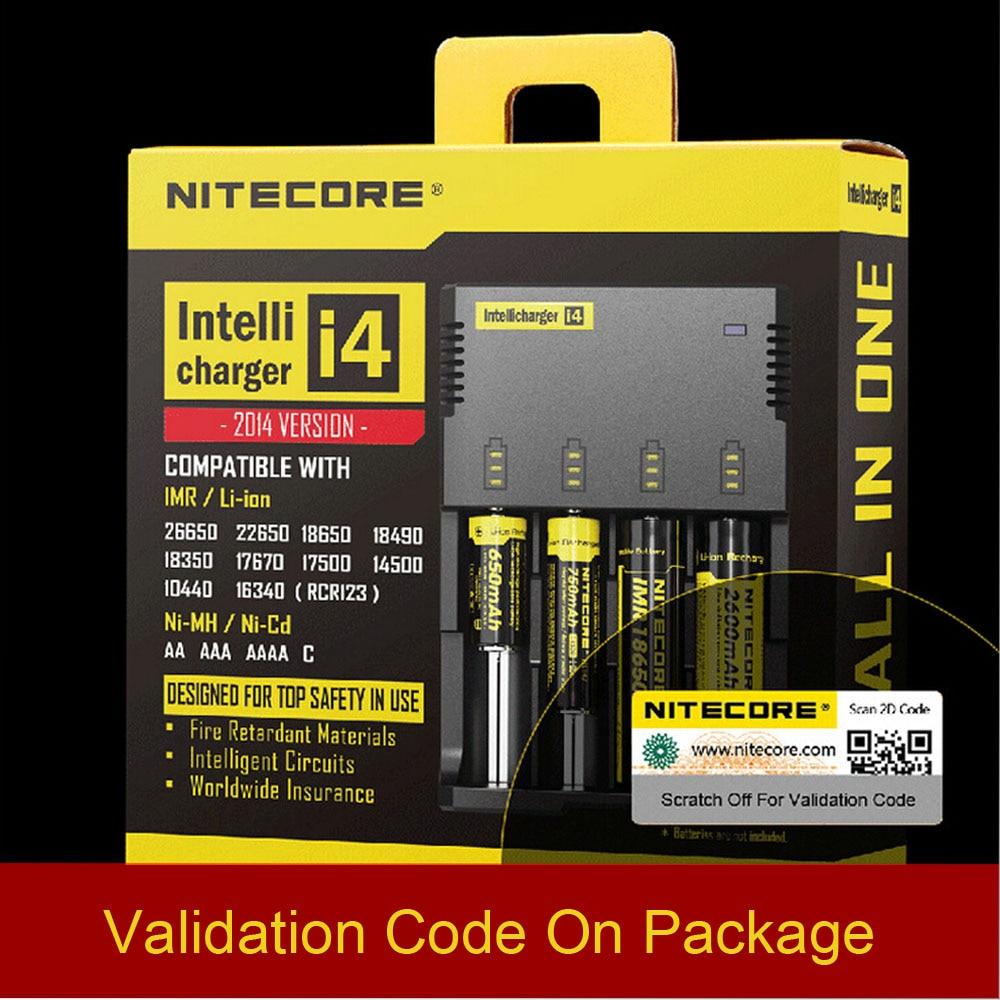 цена на Original Nitecore New I4 Digicharger Battery Charger Nitecore Charger for 26650 18650 18350 16340 14500 10440