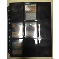 50pages 2 Sides 9 Pockets/Side 18pockets/page Board game cards page trading card protector for Magic Trading Cards Pages