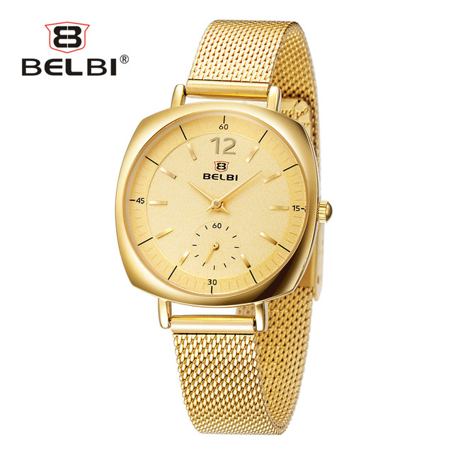Belbi Women Wrist Watches Luxury Brand Ladies Clock Square Case with Simple Round Dial Spercial Design Female Hodinky