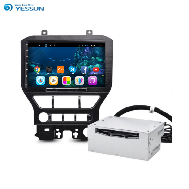 YESSUN For Ford Mustang 2015~2016 Android Car Navigation GPS HD Touch Screen Stereo Player Multimedia Audio Video Radio Navi yessun android car navigation gps for hyundai kona 2015 2017 audio video hd touch screen stereo multimedia player no cd dvd