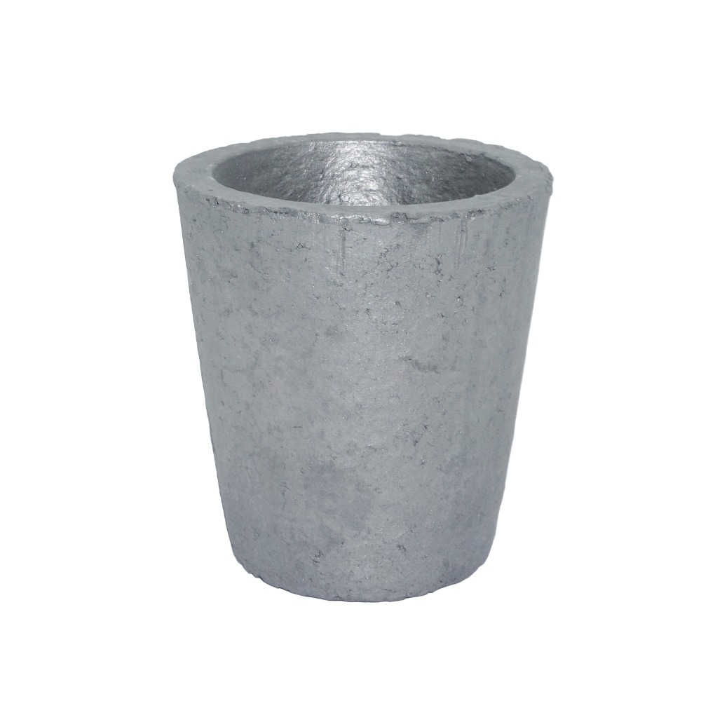 3# Foundry Silicon Carbide Graphite Crucibles Cup Furnace Torch Melting Casting Refining Gold Silver Copper Brass Aluminum