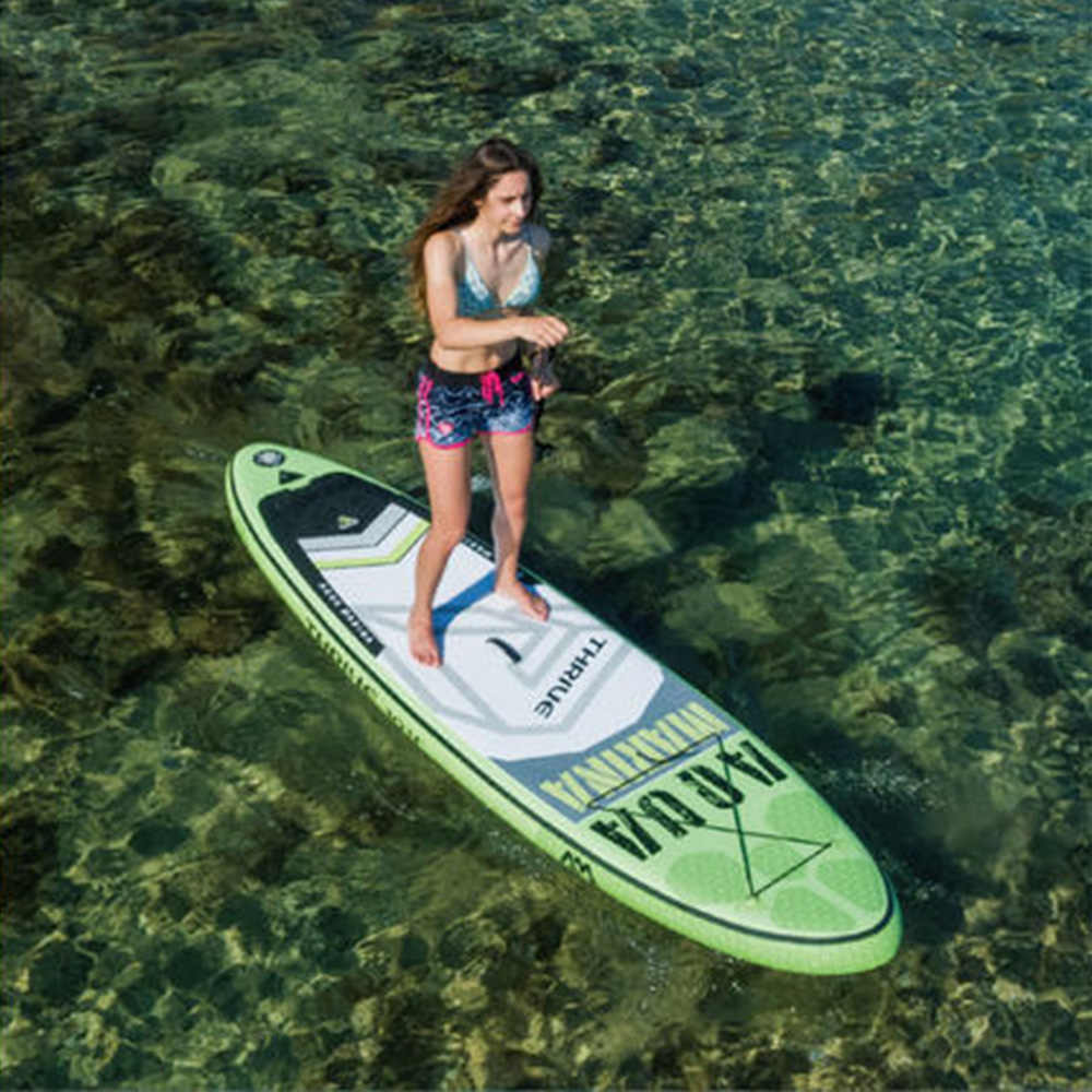 "2019 Aqua Marina Berkembang 9'9 ""BT-17TH Inflatable Papan Selancar dengan Paddel Inflatable Papan Sup Berdiri Dayung Papan Dropshipping"
