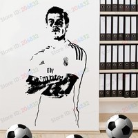 Free shipping Wall Stickers Wholesale and retail Wall decor PVC material decals wallpaper Football soccer Z-262