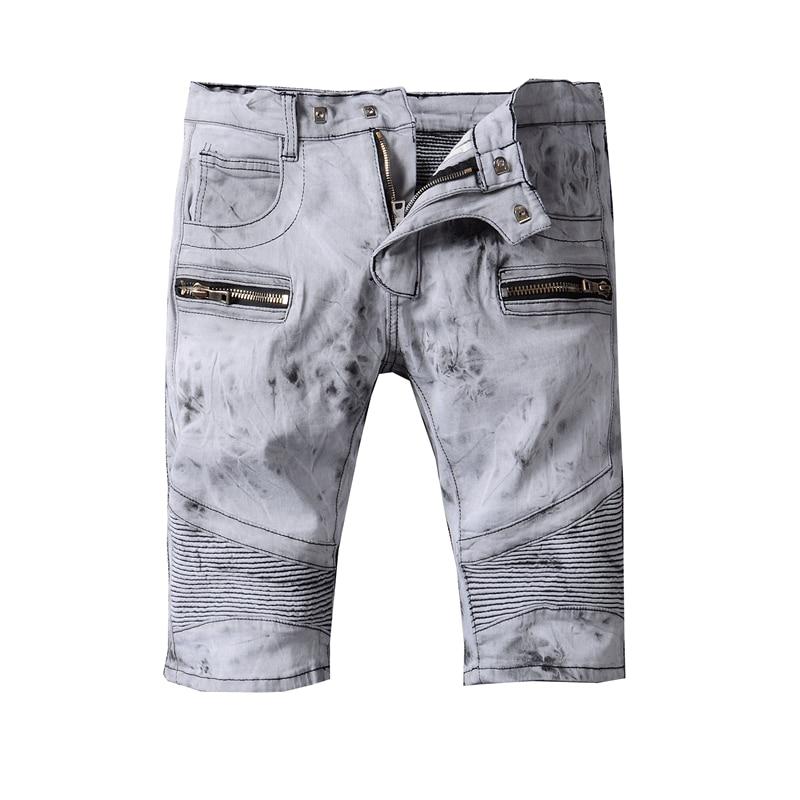 цены  2017 Men Short Jeans Men's Fashion Shorts Men Big Sale Summer Clothes Fashion Brand Male Short Pants and mens denim shorts 38 40