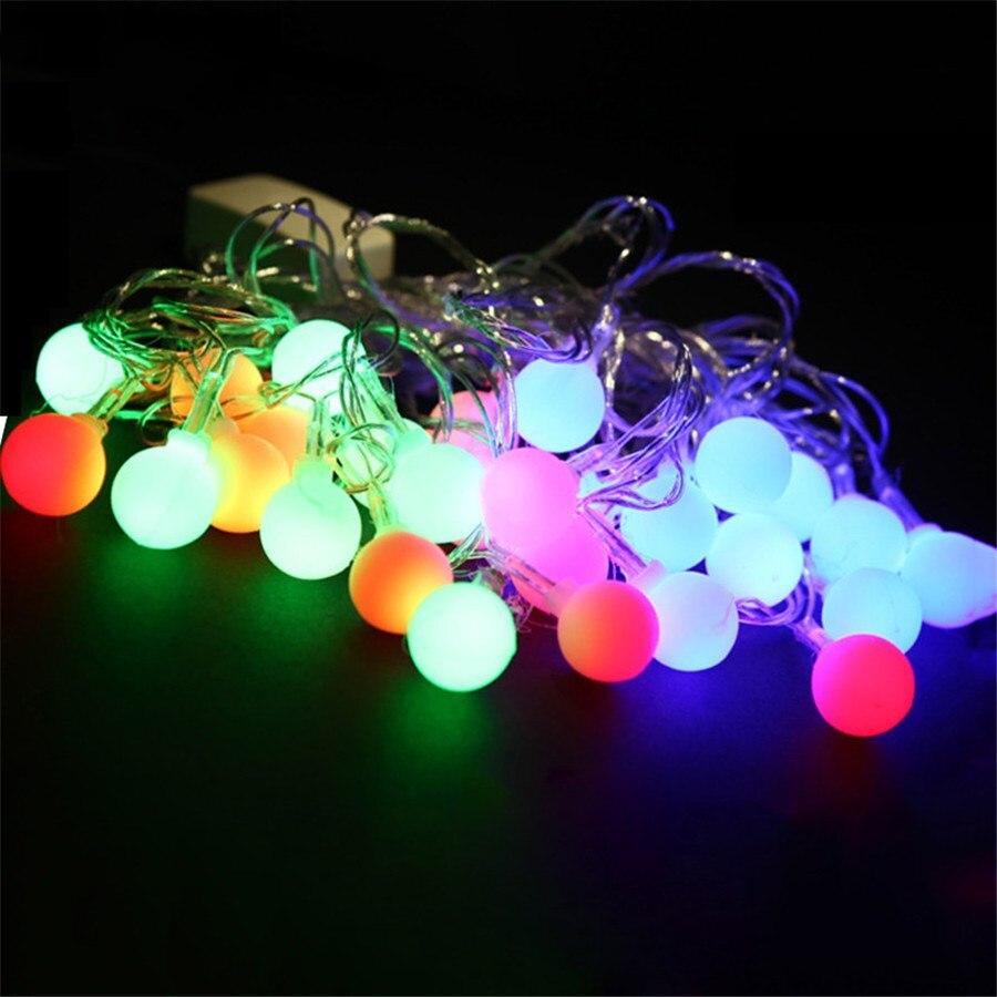 Multicolor Festoon Party Ball LED String Lights 10M 100led Waterproof Wedding Christmas Lights 110V 220V Outdoor Decoration
