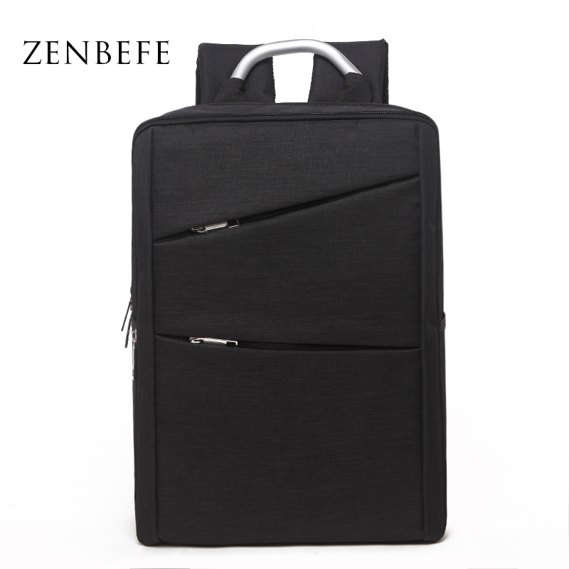 ZENBEFE Oxford Backpacks დასვენება მამაკაცის მოგზაურობის ზურგჩანთა მარტივი 15 ინჩიანი ლეპტოპის ზურგჩანთის სკოლა ჩანთა მოზარდის ბიზნეს ზურგჩანთისათვის