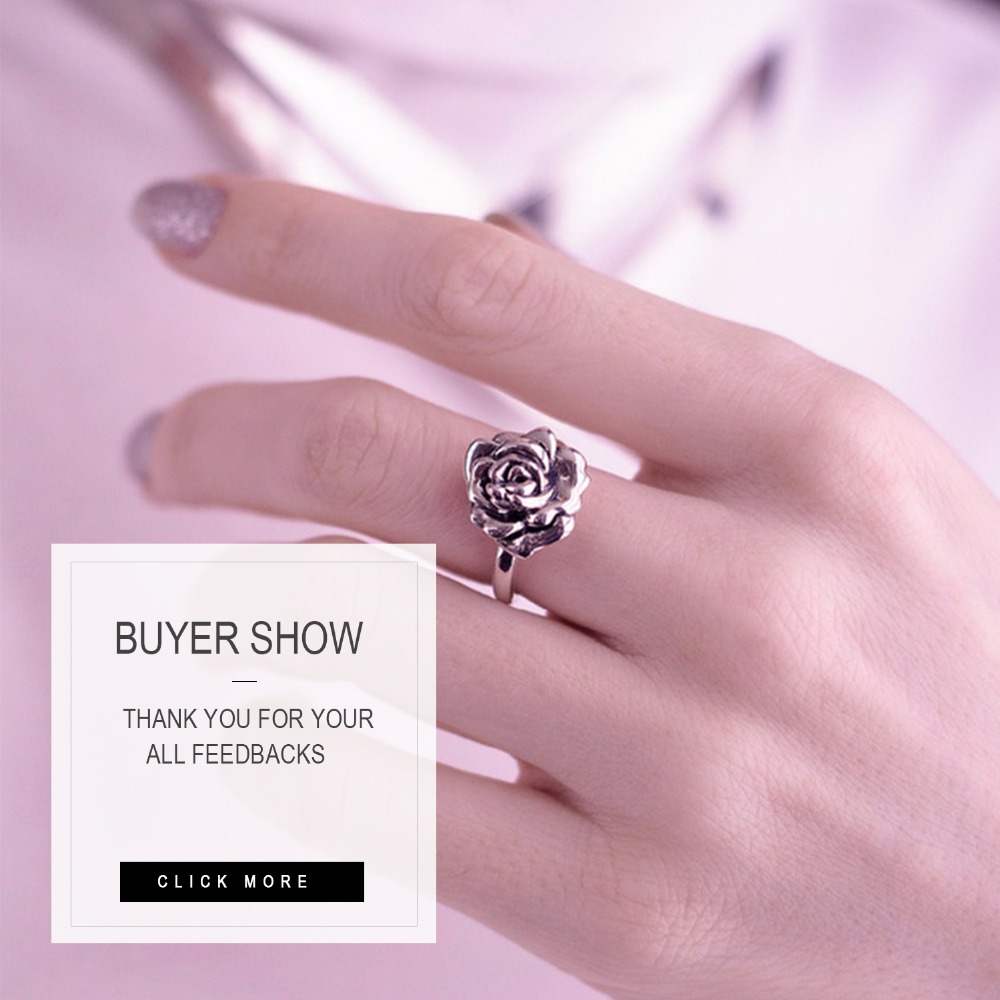 Tardoo Real 925 Sterling Silver Adjustable Open Rings For Women ...