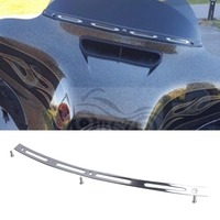 Chrome Metal Slotted Batwing Windshield Trim For Harley Davidson Electra Street Tri Glide Touring Bike 1996