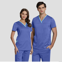 54d76d9a1be Big Size Women Men Nurse Uniforms Medical Scrub Set Hospital Workwear Core Stretch  Medical Uniforms Premium