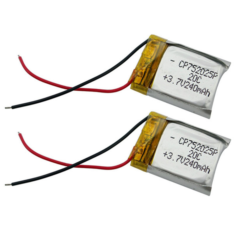2pcs/lot Li-Polymer Lipo Battery 3.7v 240mAh 20C For Syma S107G S105G WLtoys S977 V398 V319 V388 RC Helicopter Bateria wild scorpion rc 18 5v 5500mah 35c li polymer lipo battery helicopter free shipping
