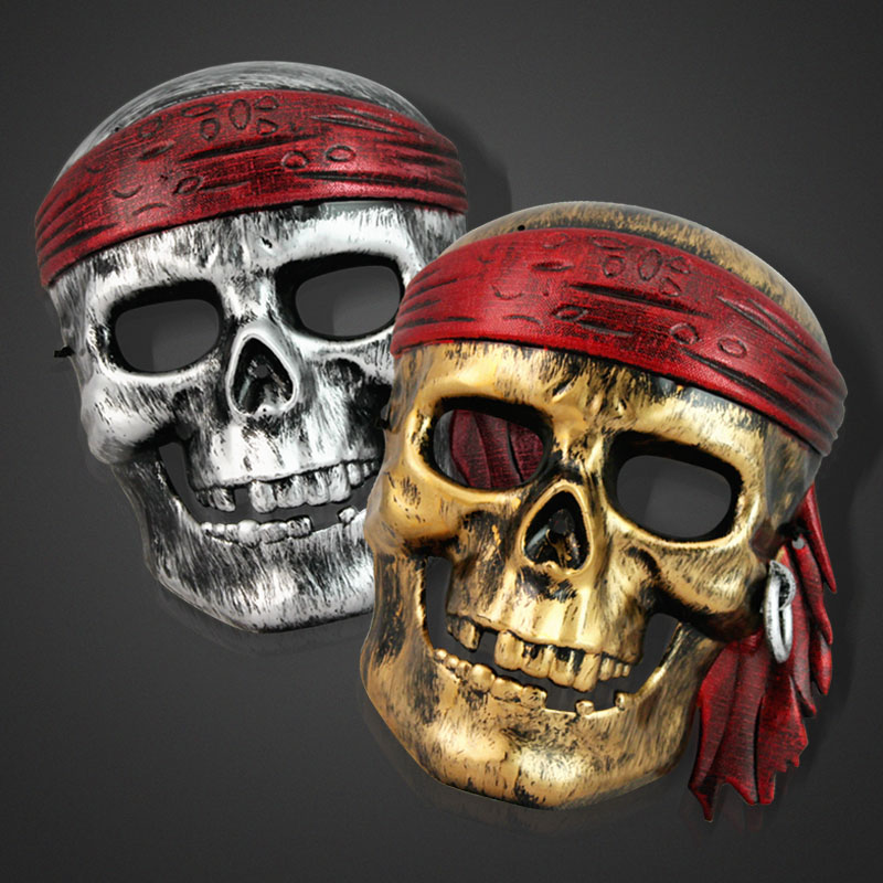 hot sales horror scary halloween pirate mask cover cosplay costume for men party halloween decoration accessories supplies - Scary Halloween Decorations On Sale
