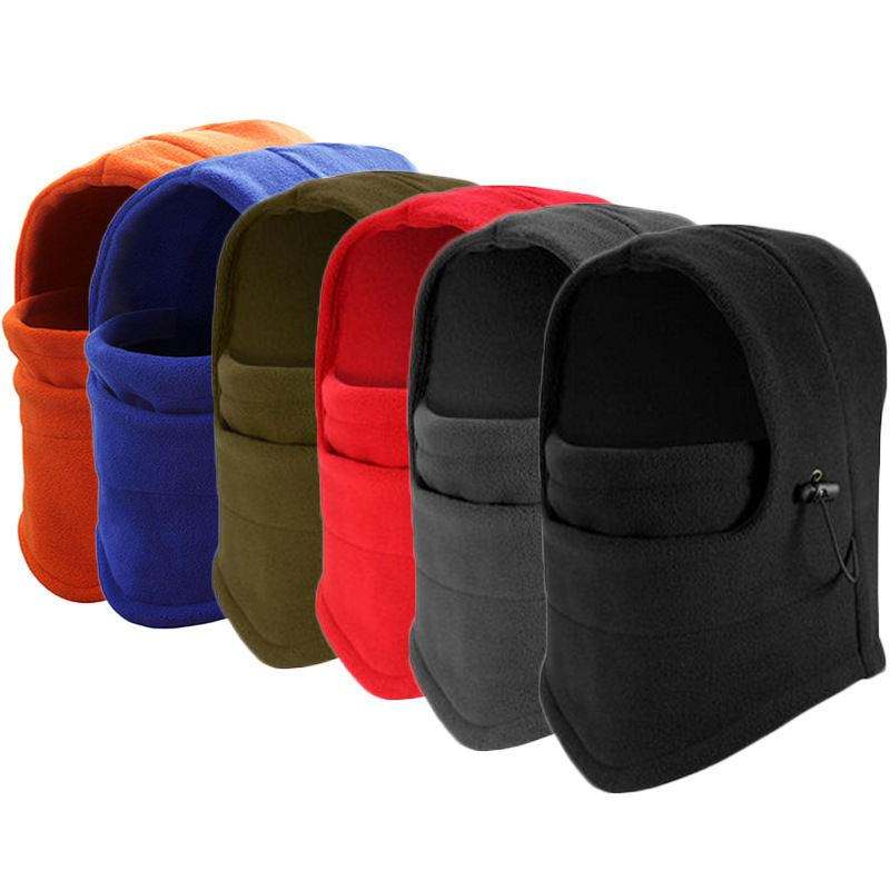 Winter Warm Fleece Women Men Beanies Hats Skull Bandana Neck Warmer Balaclava Ski Snowboard Windproof Face Mask face skullies beanies mask motorcycle fleece winter warm beanies hats colorful neck warmer