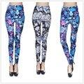 Plus size Hot High quality legging Women Flowers blooming Galaxy Printing Leggings Pants Elasticity Space Tie Dye Milk Silk