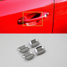 Car Accessories Exterior Decoration 4pcs ABS Chrome Door Handle Bowl Cover Trim For Kia K2/Rio 2017 Styling
