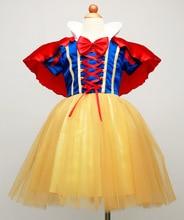 Mode carnaval filles habiller costumes pour enfants deux pièces tutu robe de blanche-neige ensemble