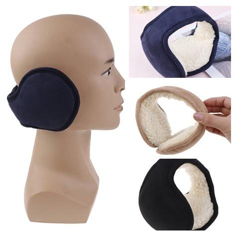 Women Men Foldable Warm Plush Ear Muffs Winter Back Wear Ear Warmers Earflap Adjustable Earmuffs Ear Cover