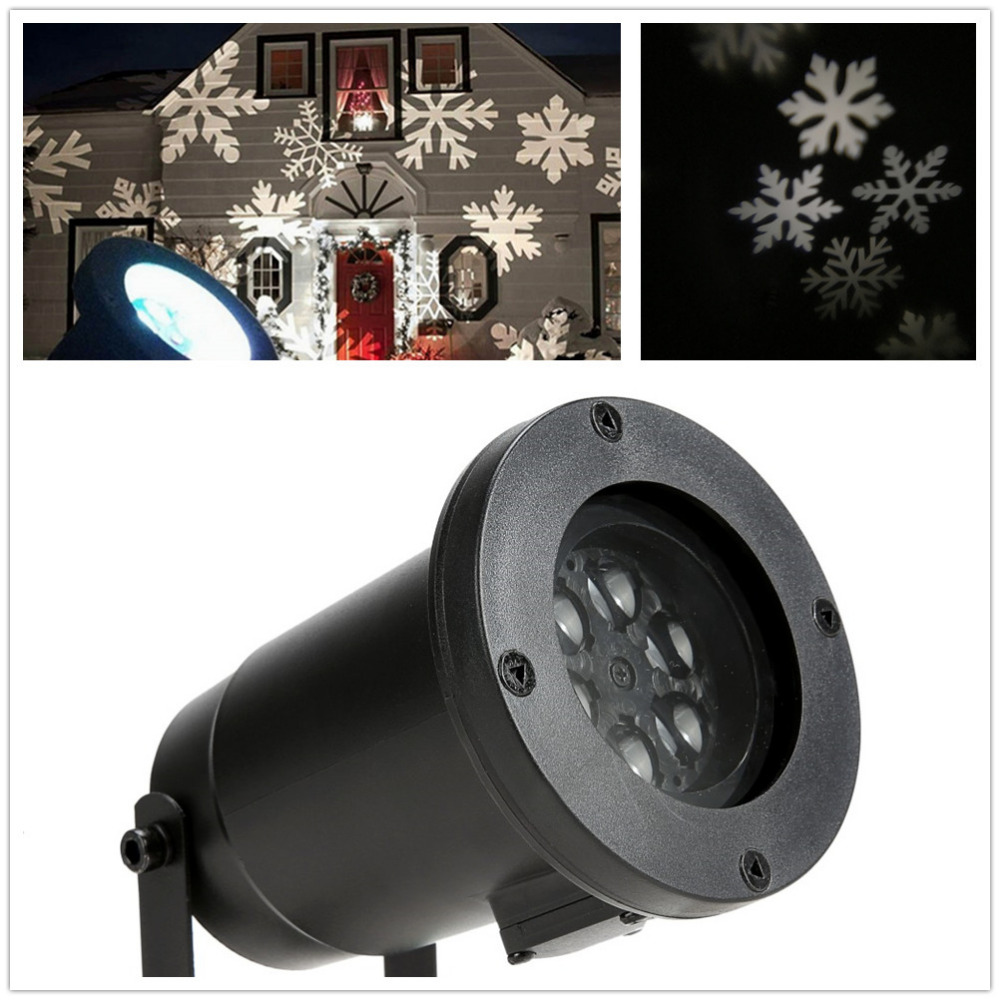 Outdoor garden waterproof white snowflake laser projection light LED stage landscape KTV pub bar evening Stage Lighting Effect