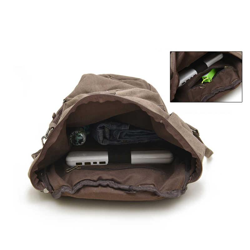 Топ многофункциональная спортивная сумка альпинистский Рюкзак Холст ведро военно-тактический рюкзак мужской туристический рюкзак хаки XA202WD