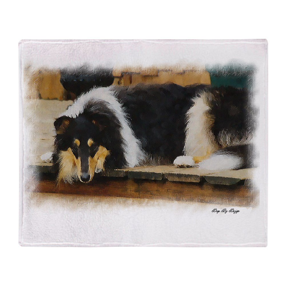 Custom creative design blanket tri color collie soft fleece throw blanket for sofa bed car couch holiday gifts