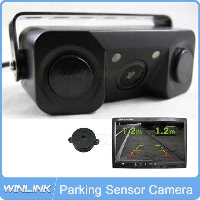 Датчик парковки Камеры CCD Парковочная Камера Заднего вида, 2 Индикатор Датчики Би Би Сигнализации Автомобилей Обратный Радиолокатор Система Помощи