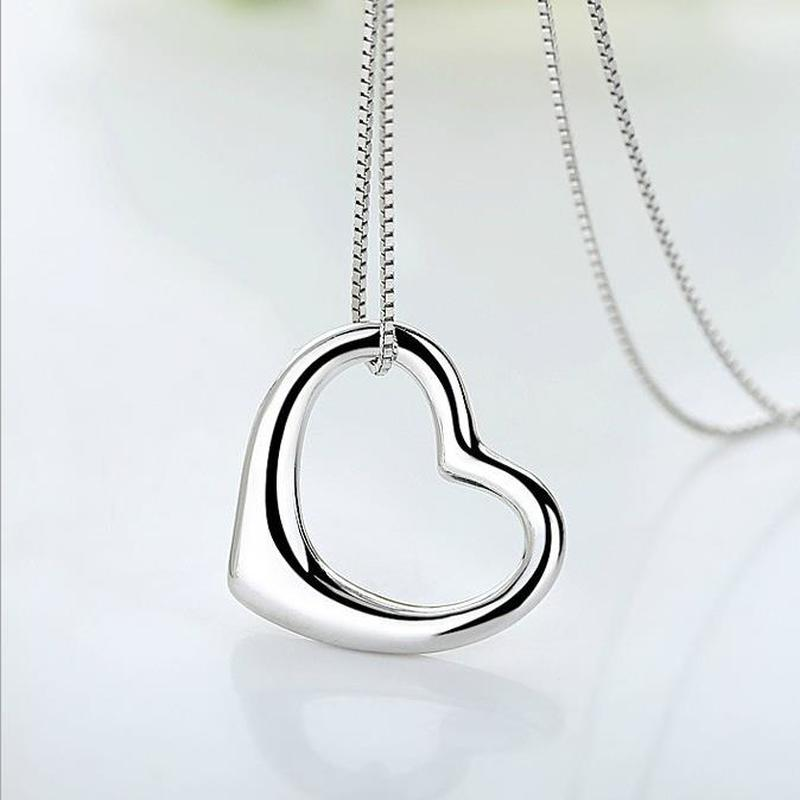 Lukeni Simple Fashion 925 Sterling Silver Necklace Girls Jewelry Trendy Heart Pendant Necklace For Women Accessories Charm Gift Necklaces Aliexpress