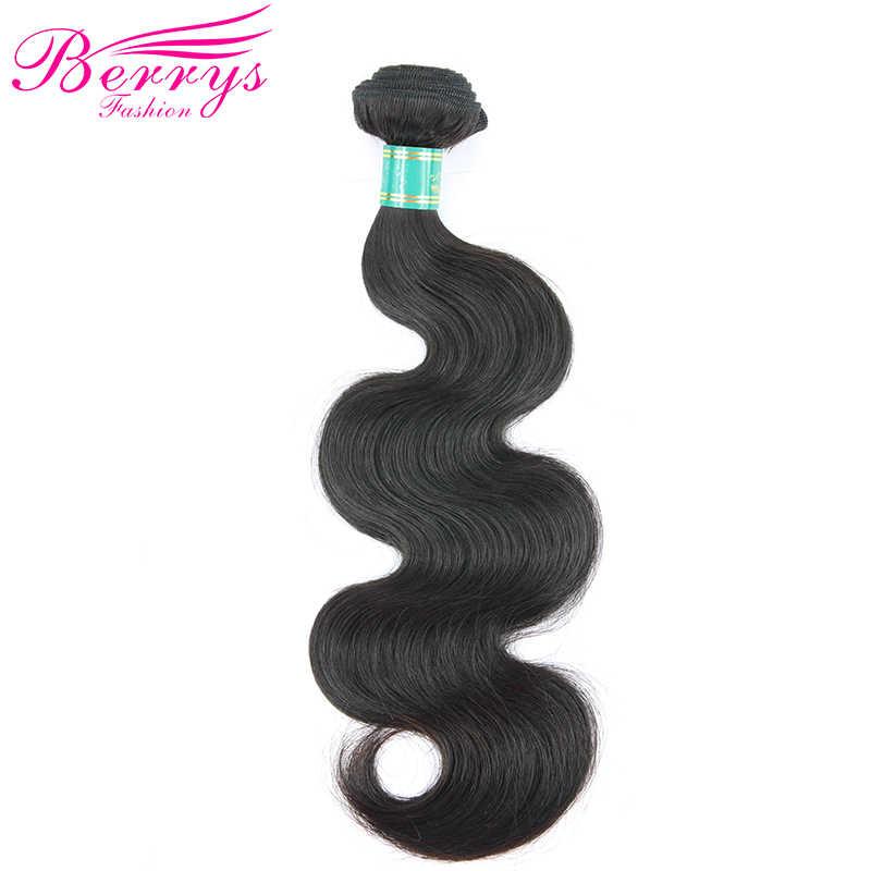 Pelo virgen brasileño 10A onda del cuerpo 100% cabello humano 4 paquetes 8 pulgadas a 30 pulgadas trama de cabello humano sin procesar berrys de moda