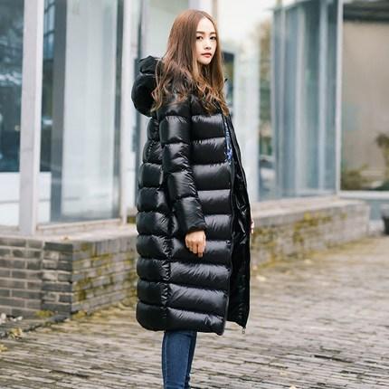 2018 New Winter Women White Duck Down Parkas Female Down Jacket Ladies Down Coat Female Warm Waterproof  Long Parkas 1634