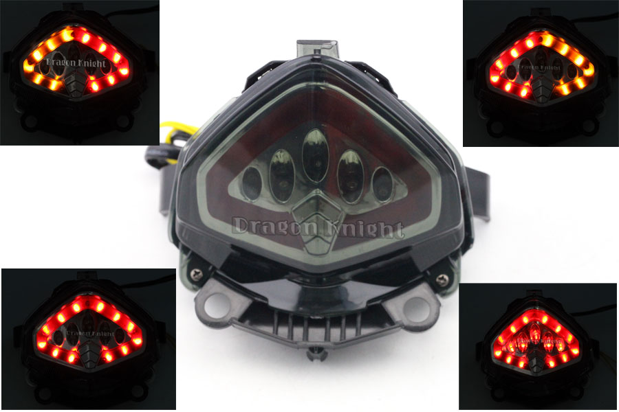 ФОТО For HONDA CBR 400R CBR500R 13-15 Integrated LED Tail Light Turn Signals Blinker Smoke Motorcycle Accessories