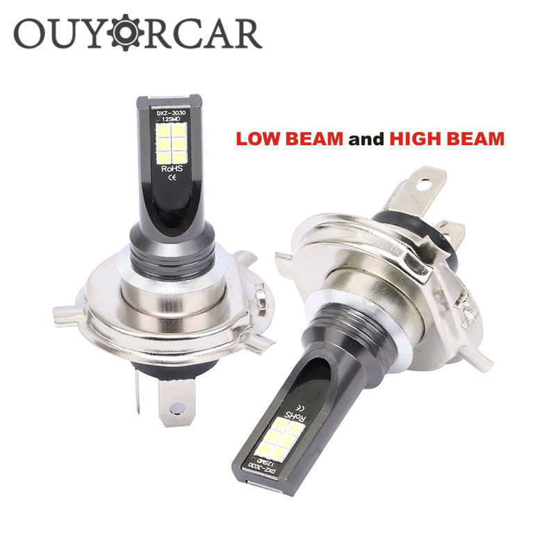 2Pcs H7 H4 LED Bulb Coche 12V No Error Lens Hi Lo H3 H11 Headlight Auto LED Fog Lamp White Wireless Car Driving Lamp HB4 Lights