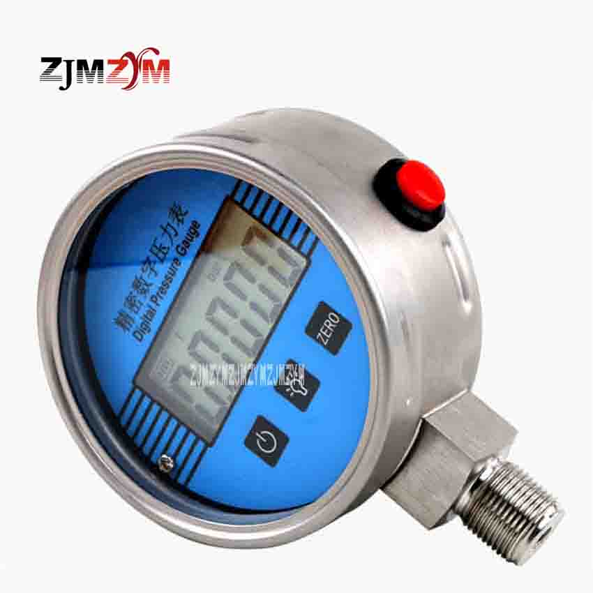 YB-150A Electronic Vacuum Table 5-digit LCD 304 Stainless Steel Pressure Gauge Precision Digital Sensor 0-100mpa High Pressure цены