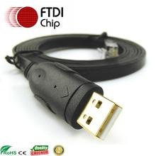 6ft ftdi usb rs232 à rj45 câble de console noir 72 3383 01 pour les routeurs cisco juniper huawei 3com