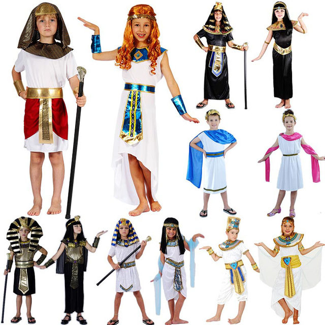 Kids Boy Girls Ancient Egypt Costume King Queen Pharaoh Costume Cosplay Carnival Halloween Costumes Purim  sc 1 st  Aliexpress & Online Shop Kids Boy Girls Ancient Egypt Costume King Queen Pharaoh ...