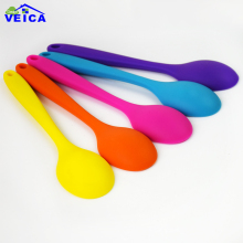 1pcs 21cm Silicone Bakeware Kitchen Tools Grade Non-Stick Silicone Rubber with Stainless Steel Core Spoons and Scoop