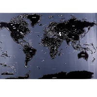 Creative Scratch Map City Edition Scratch Map Black Gold Luxury Map World Travel Map Report Stationary