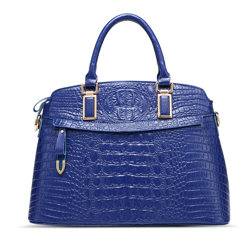 Women Genuine Leather handbag Crocodile pattern shoulder bag elegant lady's Shells bag fashion women messenger bag elegant crocodile pattern fashion women backpacks multipurpose solid genuine leather bags