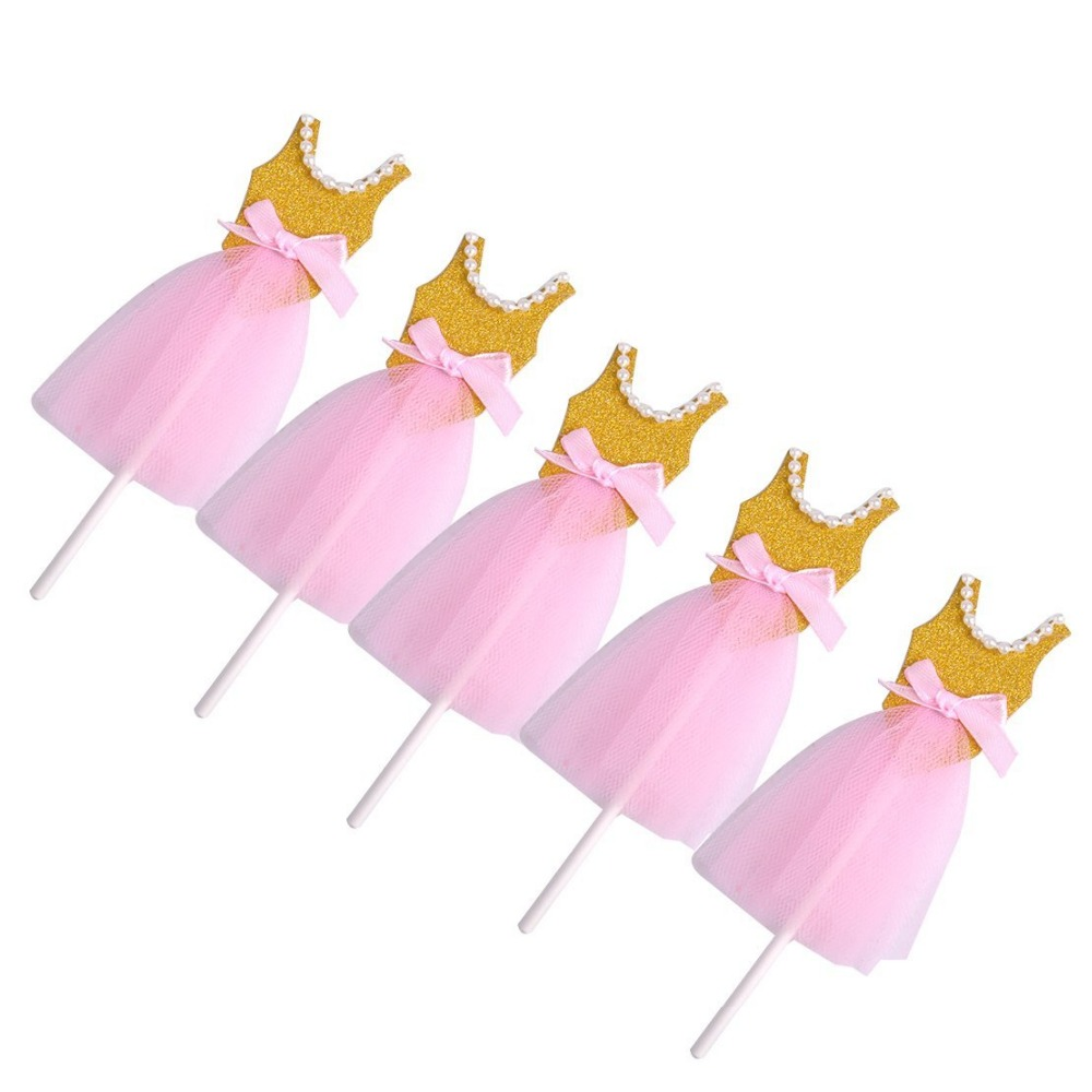 90795e483 Pink and Gold Ballerina Tutus Cake Topper for Girls Princess Birthday Party  Decorations-in Cake Decorating Supplies from Home & Garden on  Aliexpress.com ...