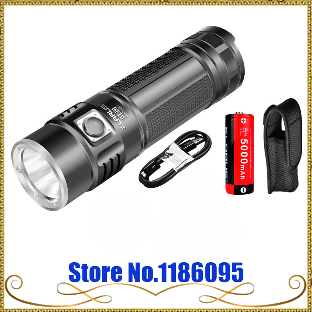 2016 KLARUS G20 CREE XHP70 N4 LED Light Tactical Flashlight USB Rechargeable Torch 3000 Lumens Dual Switch With 26650 Battery лампа светодиодная led e27 8 5вт 220v 2700к rev