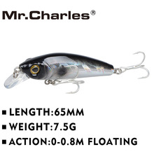 Mr.Charles CMC022  fishing lures  ,65mm/7.5g 0-0.8m floating super sinking minnow