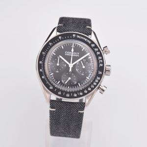 Corgeut zegarek moda męska Sport wielofunkcyjny zegar kwarcowy męskie zegarki Top marka luksusowe 24 godziny pełny chronograf Wrist Watch